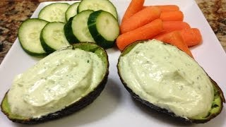 Creamy Avocado Greek Yogurt Dip Recipe - Hasfit Healthy Dips - Greek Yogurt Recipes
