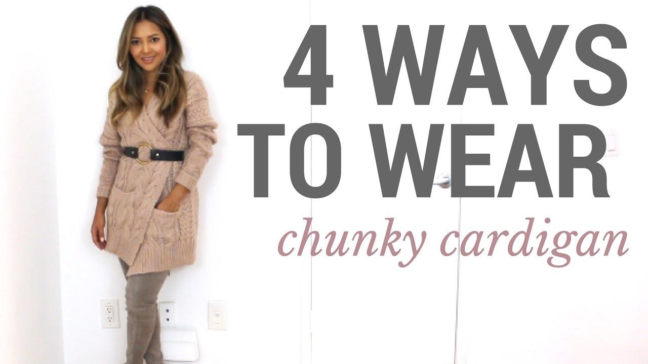88de4891fd9 4 Ways to Wear the Chunky Cardigan
