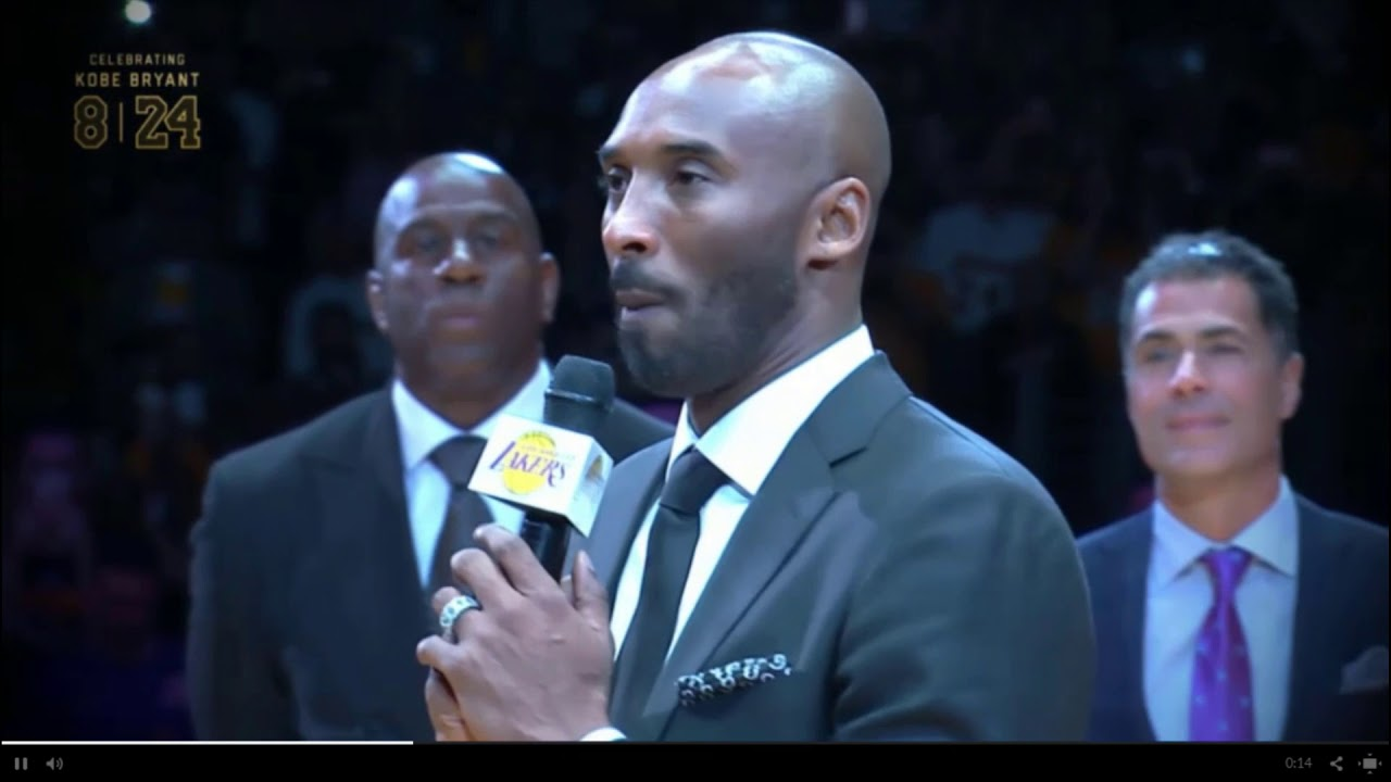 af9d41a93 LA Lakers honour Kobe Bryant by retiring jersey numbers - YouTube