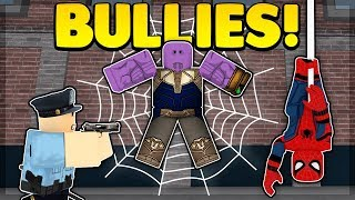 TEACHING BULLIES A LESSON! (ROBLOX SUPER POWER TRAINING SIMULATOR)