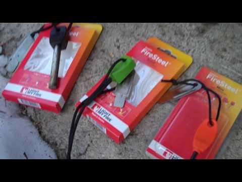 Light My Fire: Sweedish fire steel, Army, Scout, Mini firestarter