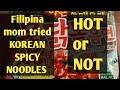 Samyang Mukbang/ KOREAN HOT SPICY CHICKEN NOODLES/Filipina mom tried KOREAN HOT SPICY NOODLES