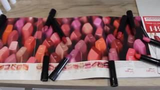 Помады и карандаши для губ Colourbox Oriflame.Анна Смирнова