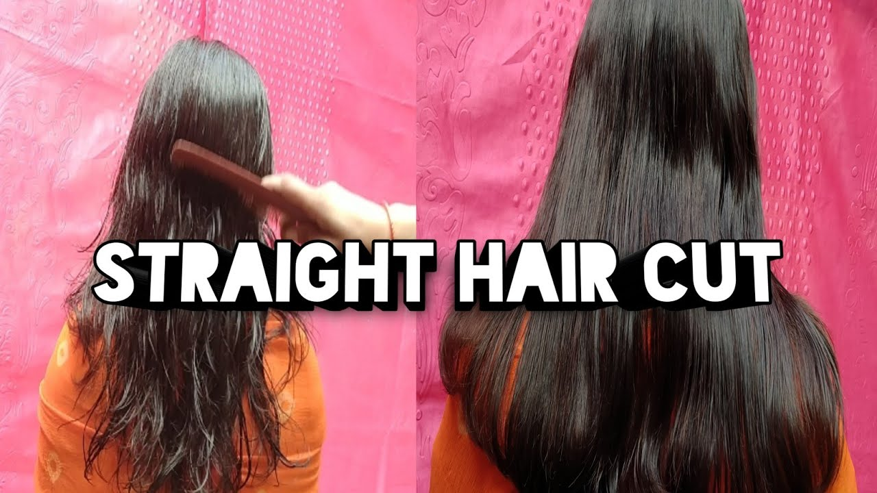 Easy Straight Hair Cut How To Cut Straight Hair At Home Straight Cut Rinki Rasoi Vlogs Youtube