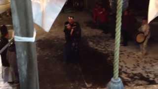 脇野沢にある能舞講中は、元旦の脇野沢八幡宮への神前奉納に始まり、村...