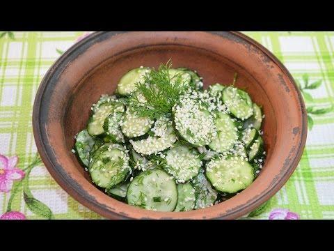 Салат из огурцов, 38 рецептов + фото рецепты /