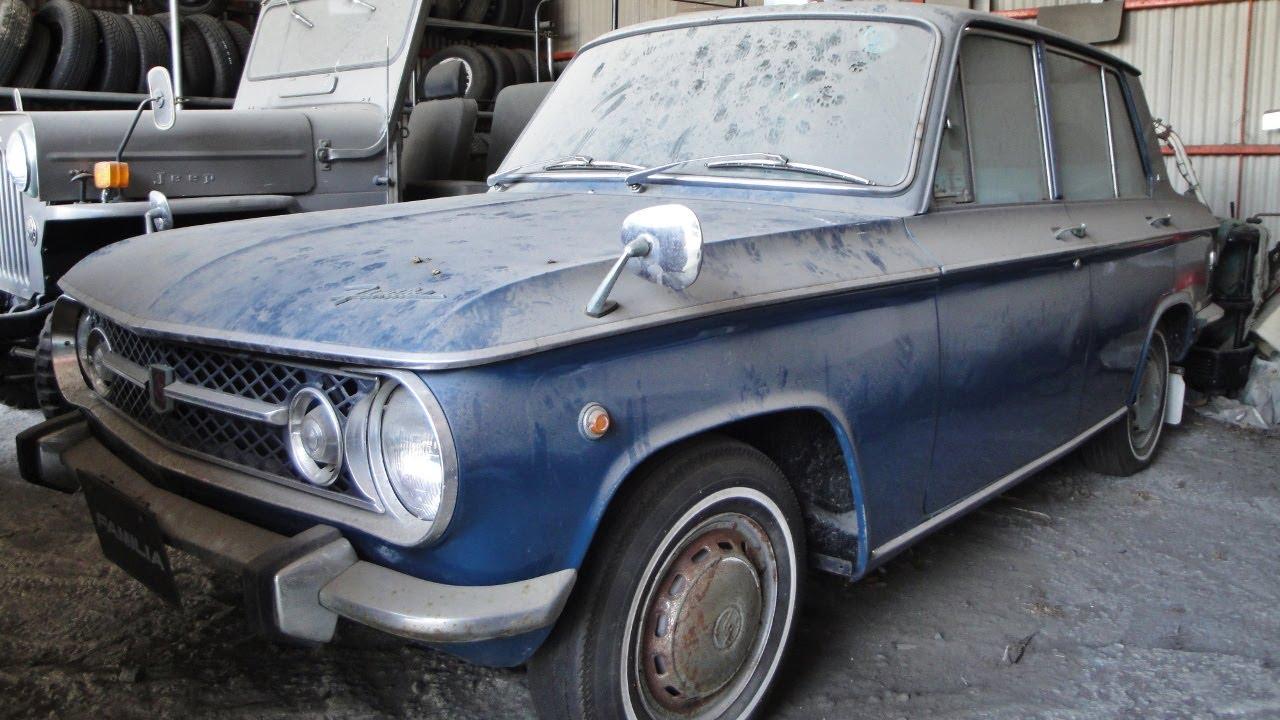 Actual barnfind: A vintage (1960\'s) Mazda Familia 1000 - YouTube