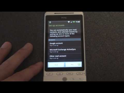 HTC Hero First Time Setup | Pocketnow