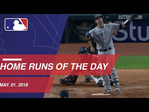 Watch all the home runs from May 1, 2018