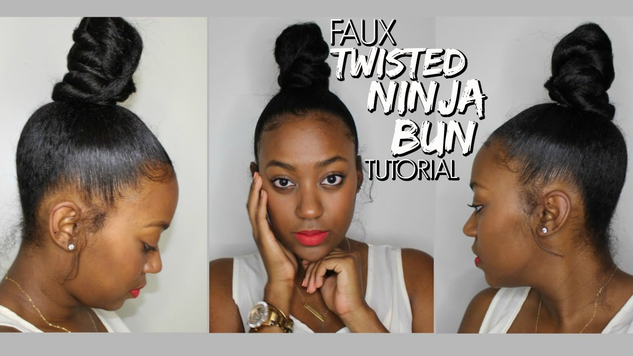 Faux twisted ninja bun tutorial highly requested youtube ccuart Image collections