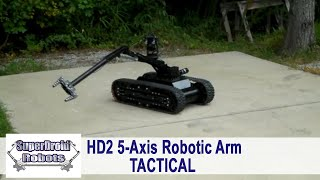 SuperDroid Robots HD2 with 5 Axis Arm and COFDM Radio