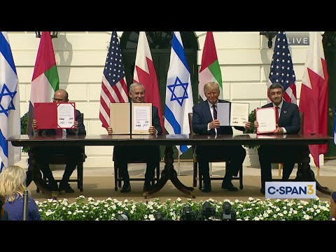 White House Abraham Accords Signing Ceremony White House Abraham Accords Signing Ceremony with President Donald Trump, Israeli Prime Minister Benjamin Netanyahu, UAE's Foreign Minister Abdullah ..., From YouTubeVideos