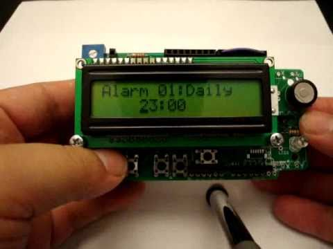 Phi-1 shield running alarm clock with arduino: Current hardware: http://liudr.wordpress.com/shields/phi-2-shield/  Project code: http://code.google.com/p/phi-prompt-user-interface-library/downloads/detail?name=Phi_2_project_alarm_clock_v6.zip&can=2&q=#makechanges