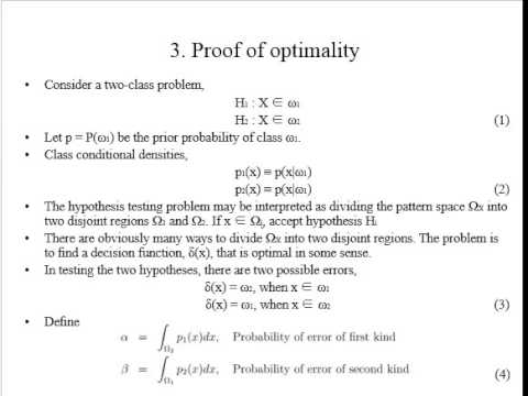 Bayes rules (definition, example, proof of optimality), a slecture ...