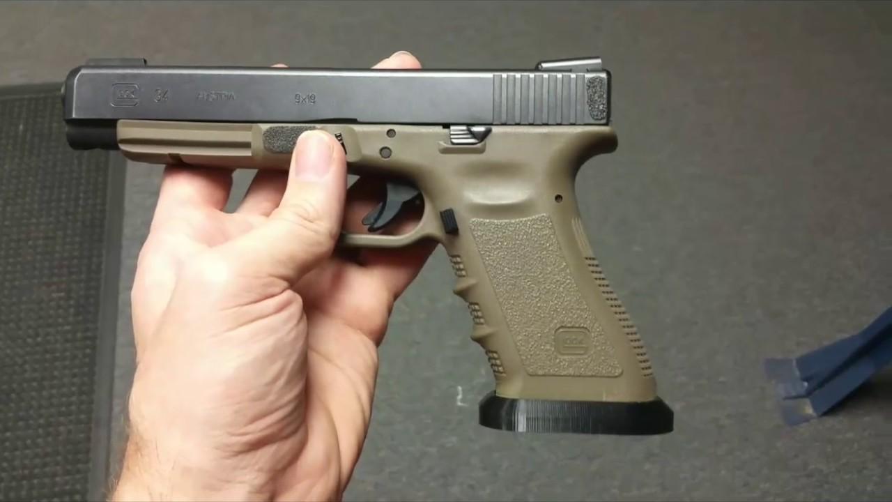 3D printed Glock 34 flared magwell