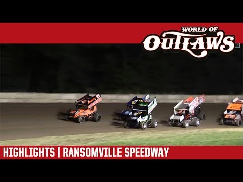 World of Outlaws Craftsman Sprint Cars Ransomville Speedway July 27, 2018 | HIGHLIGHTS