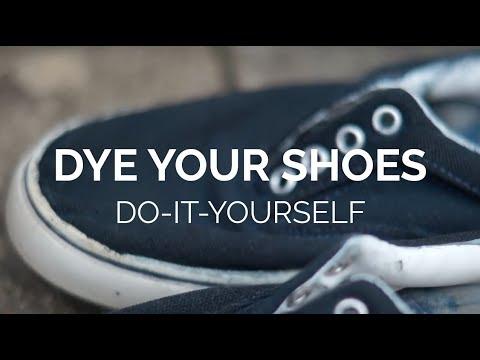ab311e440fbf DIY  Dye your Canvas Shoes - YouTube