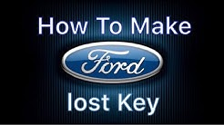 How To Make A Ford Key (all Keys Lost)