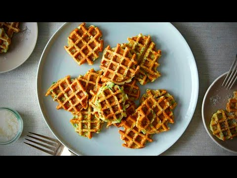 Keto Zucchini Waffle Fries and Burger | Simple & Delicious Ketogenic Diet Recipe