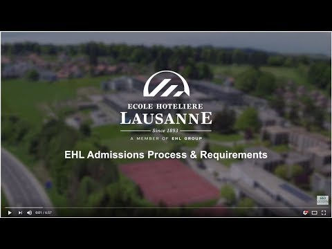 Admissions process & requirements - Ecole hôtelière de Lausanne (EHL)