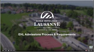 EHL Admissions process & requirements