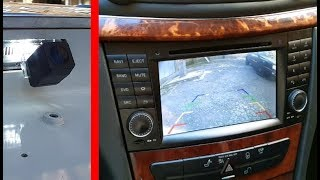Rear View Camera on Mercedes / How to Install and Connect a Backup Cameras, Detailed instructions