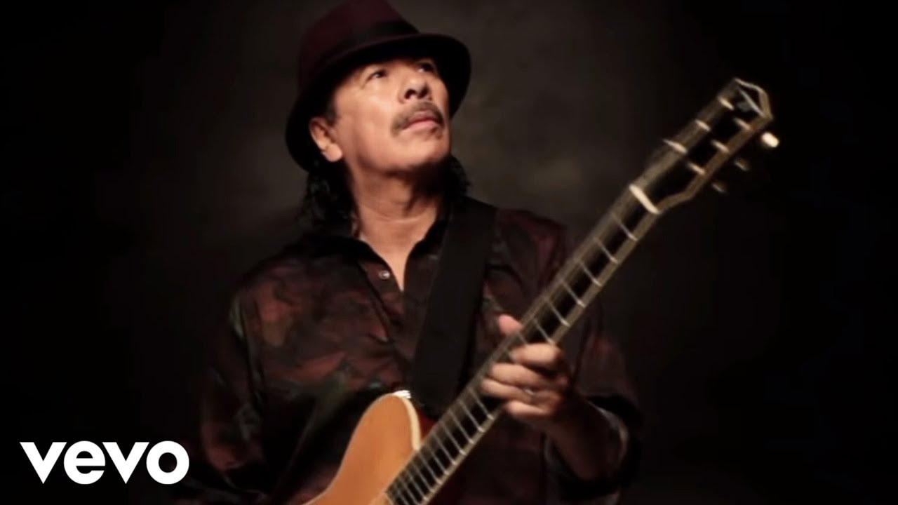 Santana While My Guitar Gently Weeps Official Video Youtube