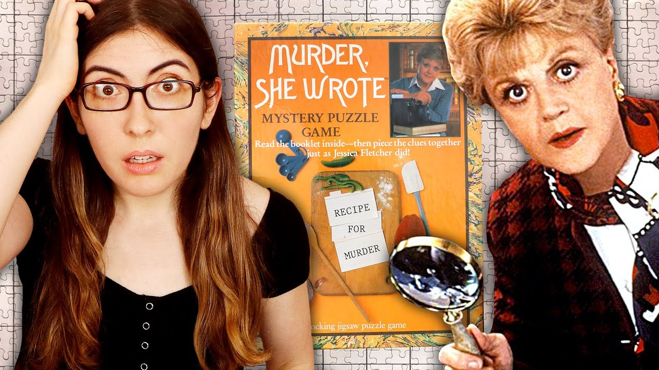 """Doing a vintage """"Murder She Wrote"""" jigsaw puzzle (Can you solve the mystery?)"""