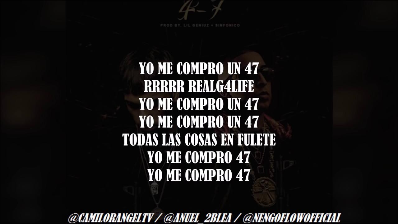 47 Letra Anuel Aa Ft Nengo Flow Youtube