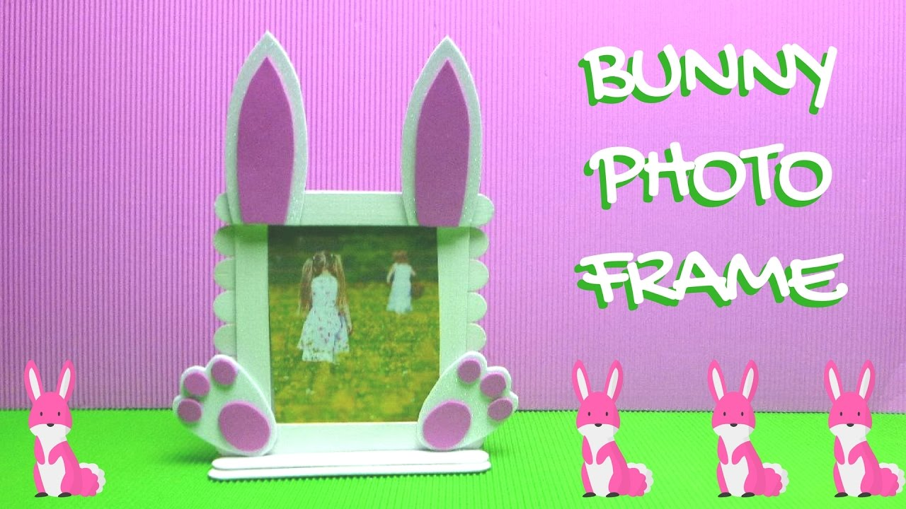 Popsicle Stick Craft - Bunny Photo Frame - Easter Crafts - YouTube