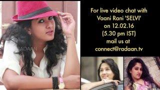 Live Chat With Your Vani Rani Favourite Stars | Selvi (Nikhila) | Live on 12-02-2016