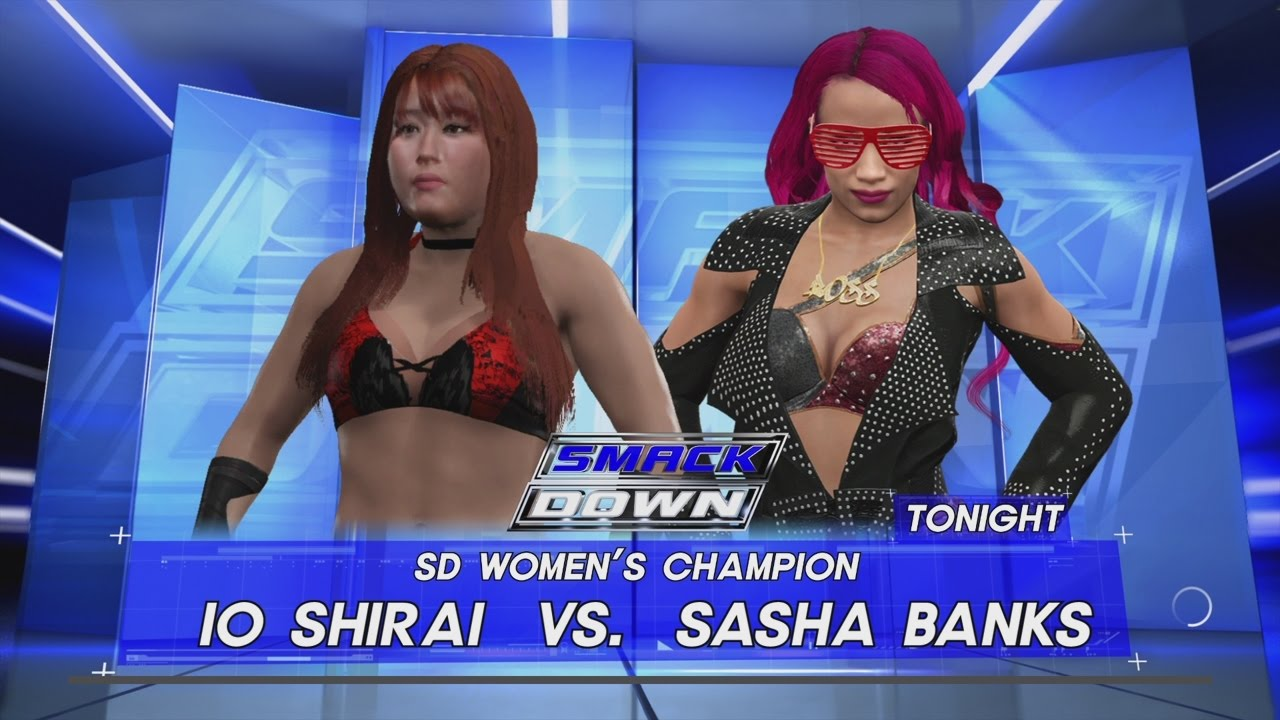 io shirai WWE 2K17 - Io Shirai vs. Sasha Banks SD Women's Title