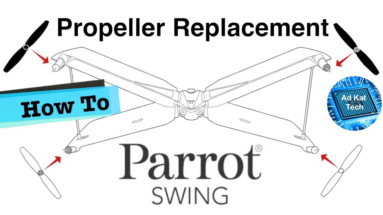 medium resolution of parrot swing how to change propeller blade when lost or damaged
