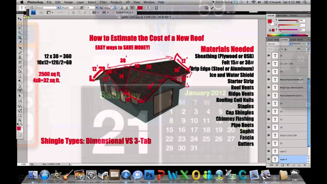 How to Estimate The Cost of a New Roof - YouTube