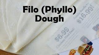Filo (Phyllo) Dough - (Bur Fiilo) عجينة الفيلو/الكلاج/الجلاش