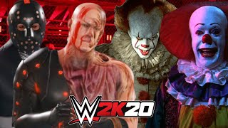 NEW PENNYWISE \u0026 OLD PENNYWISE vs SUPER GAMING FAMILY HORROR EDITION | WWE 2K20