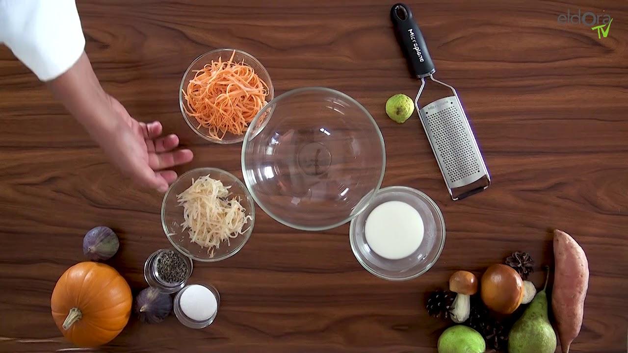 Rack de cerf et rösti de patate douce et poire