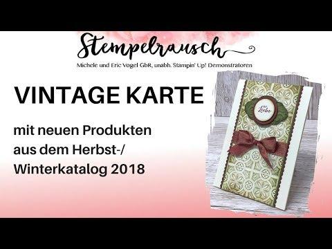 Vintage Karte | Shabby Chic | Schwämmchentechnik Mit Neuen Stampin' Up! Produkten