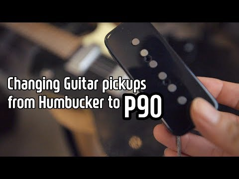 Changing Guitar Pickups From Humbucker To P90