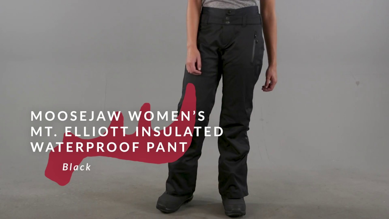 a835985c522 Moosejaw Womens Mt. Elliott Insulated Waterproof Pant - YouTube