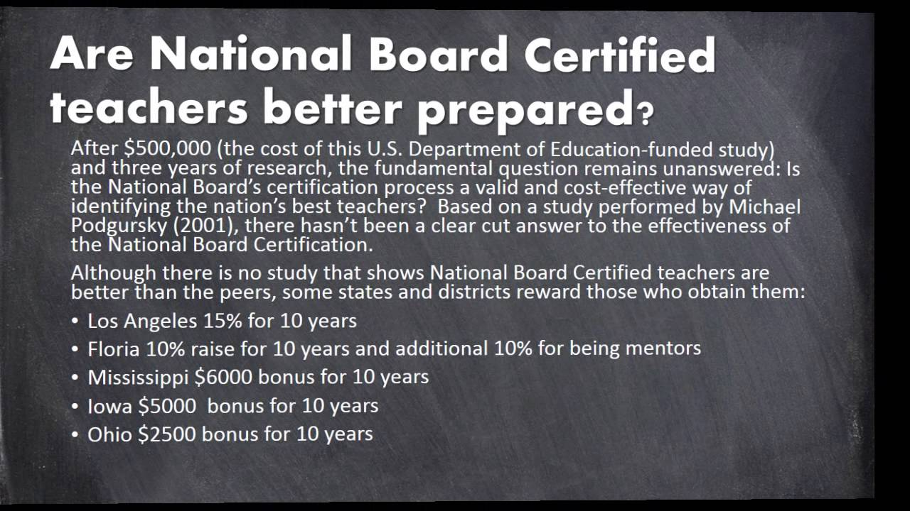 National Teacher Certification Youtube