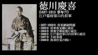 徳川慶喜 (1837 ~ 1913) 江戸幕府第15代将軍.