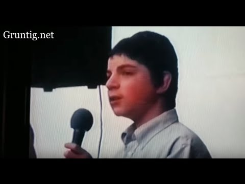 13 Year Old Benny sings at Sholom Mordechai's Backyard in Postville, 20 Years Later in Monsey