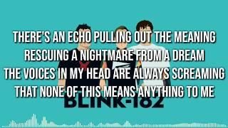 Lyrics BLINK 182 - BORED TO DEATH (LIRIK)