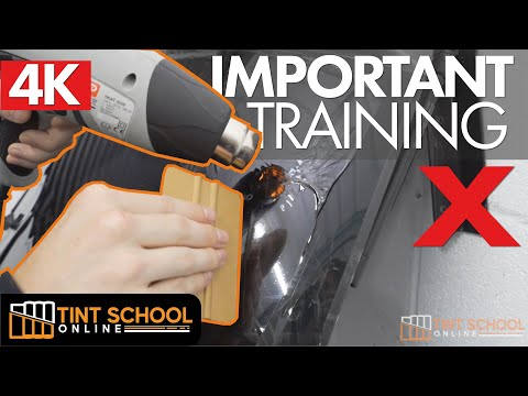 DO NOT TRY car window tinting until you watch this - PROFESSIONAL TINT TRAINING