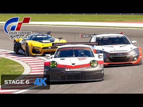 Gran Turismo Sport Onboard 4K - Endurance Full Race Porsche 911 RSR (991) Stage 6 Final Mission