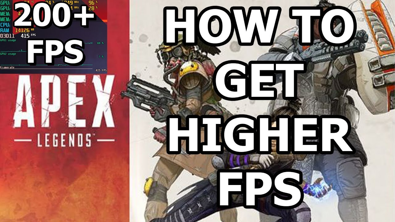 How to get higher FPS on Apex Legends and avoid 144 FPS cap