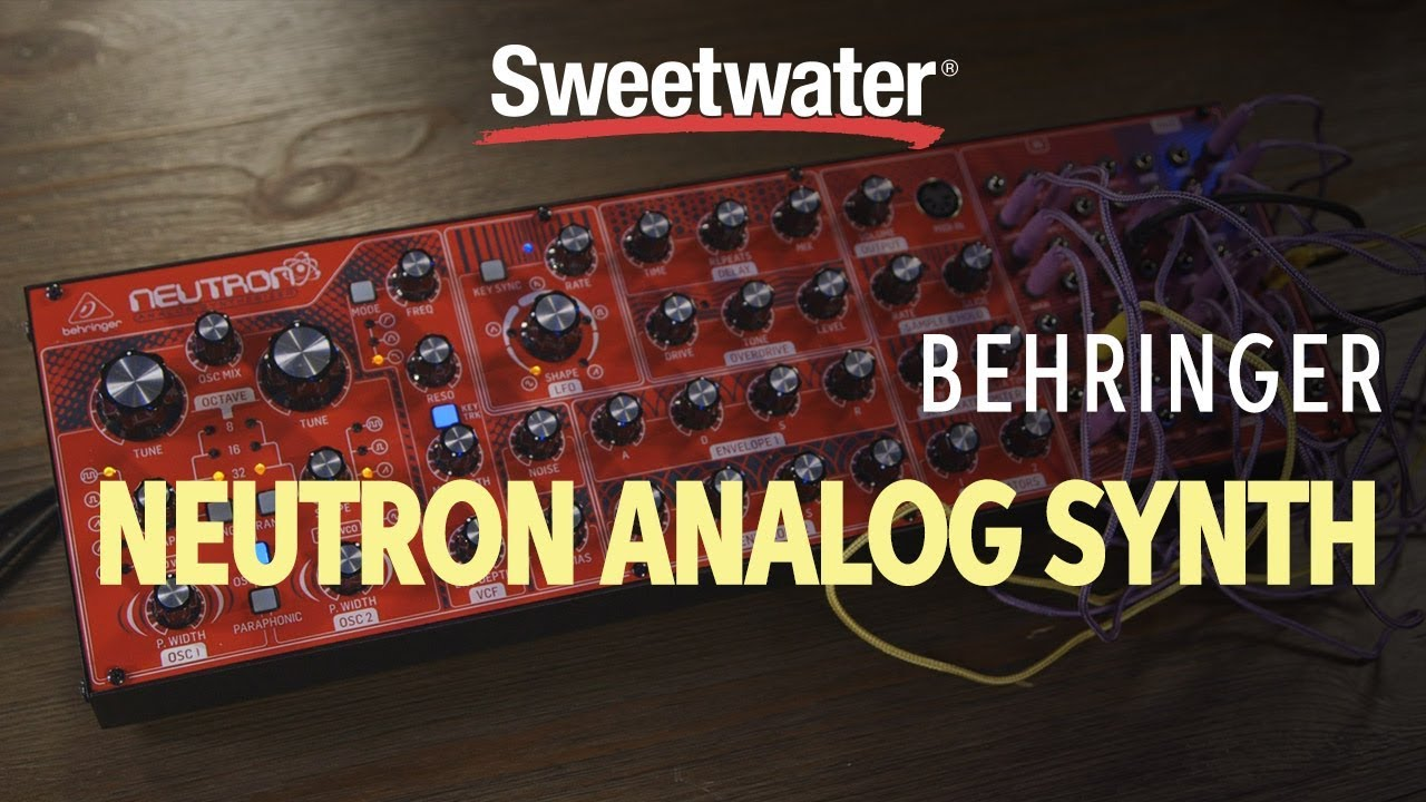 behringer neutron semi modular analog synth demo youtube. Black Bedroom Furniture Sets. Home Design Ideas