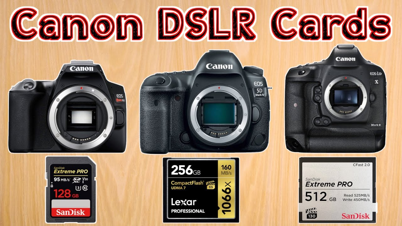 Best Memory Card For Canon Dslr Cameras Choosing The Best Sd Card For Video On Canon Cameras Youtube