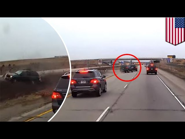 Caught on camera: Tailgater gets what's coming, crashes when brake-checked - TomoNews